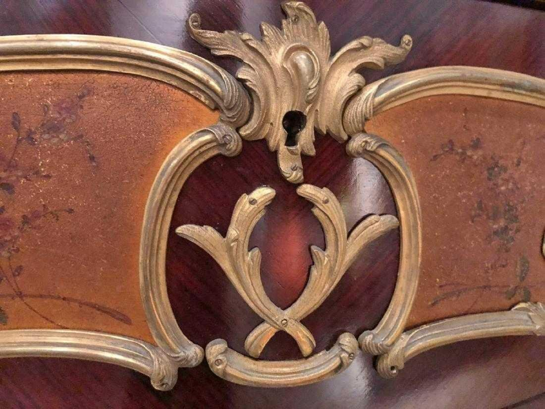 Antique French Louis XV style inlaid cabinet - 3
