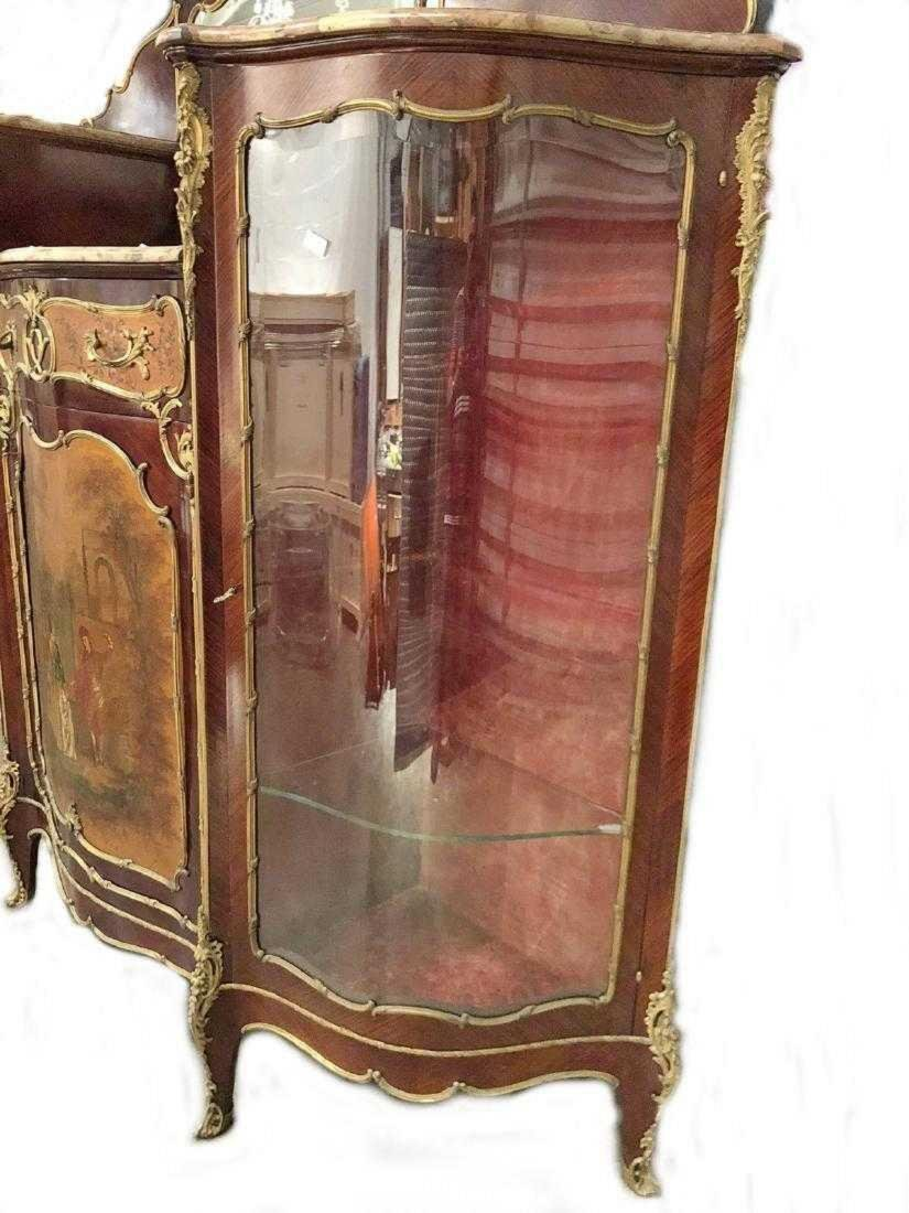 Antique French Louis XV style inlaid cabinet - 6