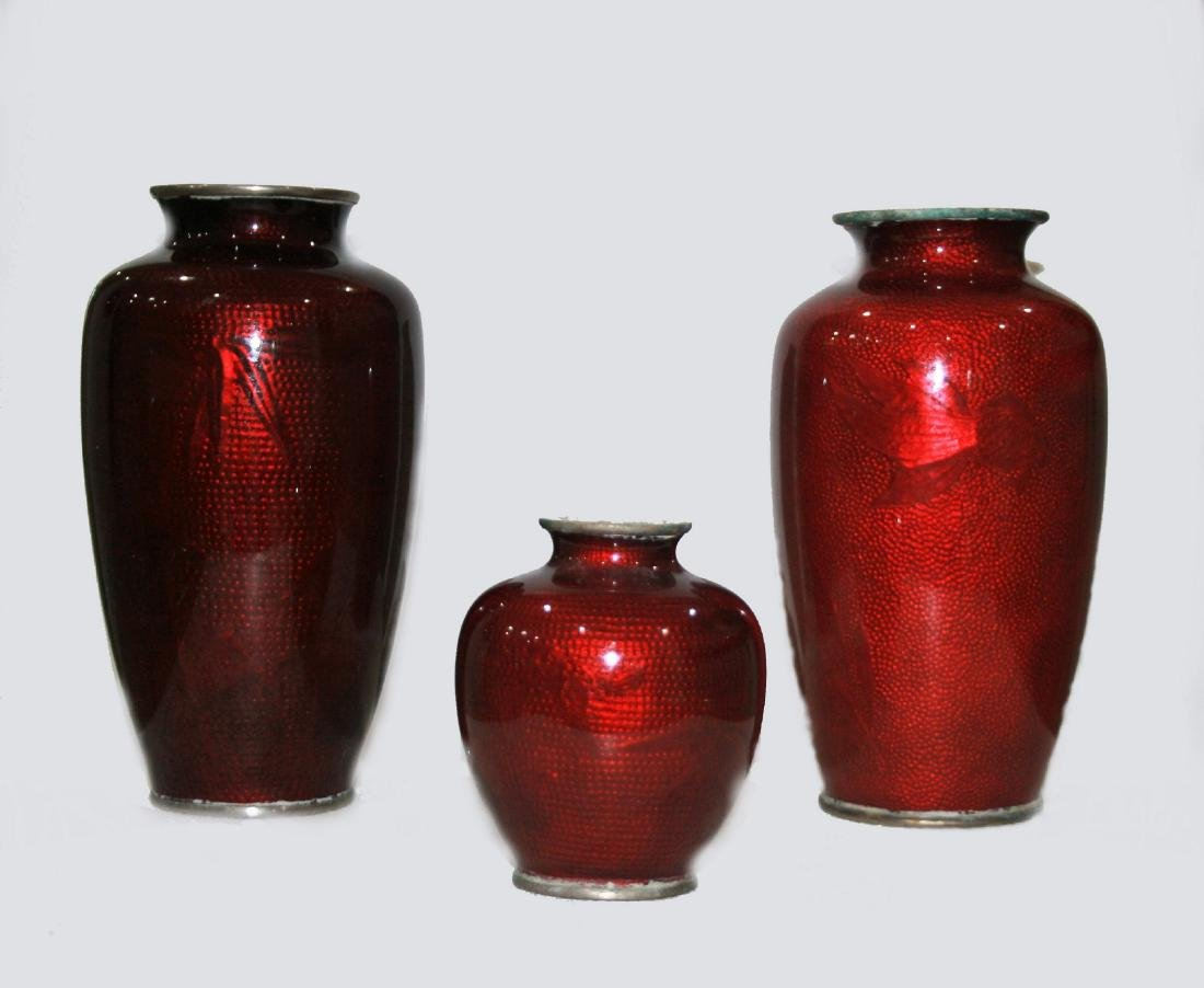 Cloisonne vases - 2