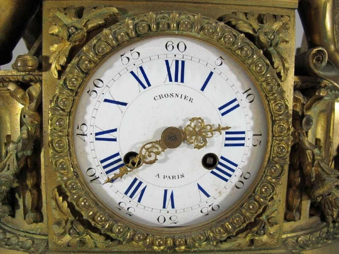 19th C French Japy Freres bronze mantle clock - 7