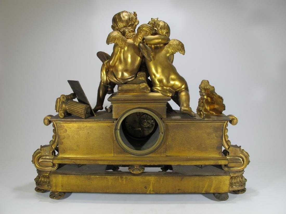 19th C French Japy Freres bronze mantle clock - 8