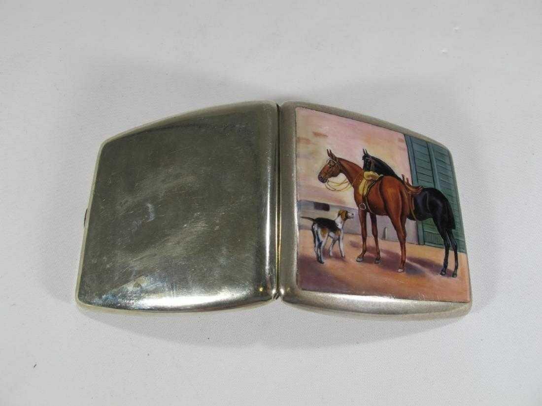 Market Alpacca enamel vintage cigarettes case