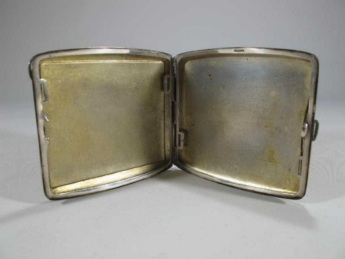 Market Alpacca enamel vintage cigarettes case - 3