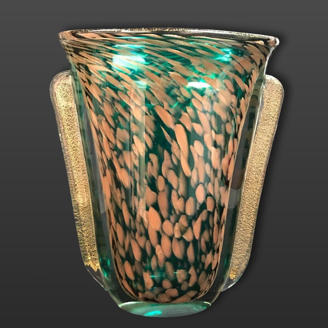Mid century Murano Art Glass Vase.