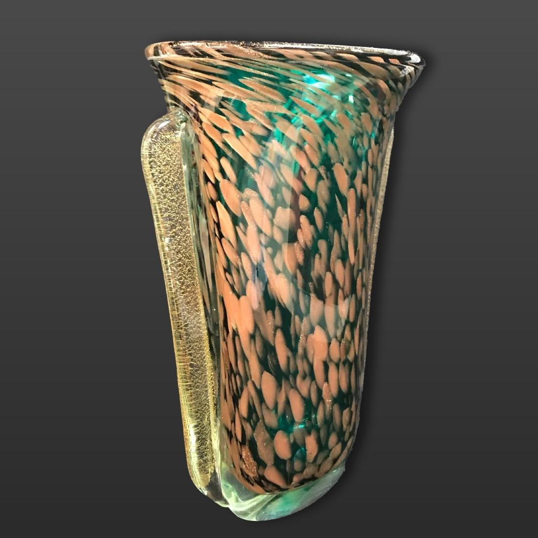 Mid century Murano Art Glass Vase. - 2