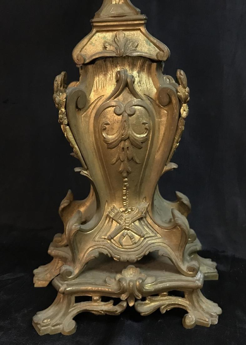 antique french rococo bronze dore candelabra 8 lights - 3