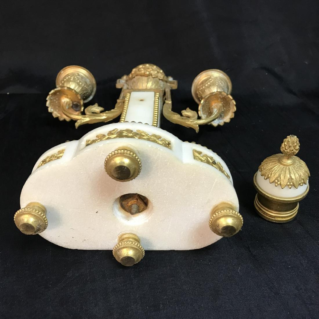 A Three-Piece French Louis XVI-Style Gilt Bronze - 10