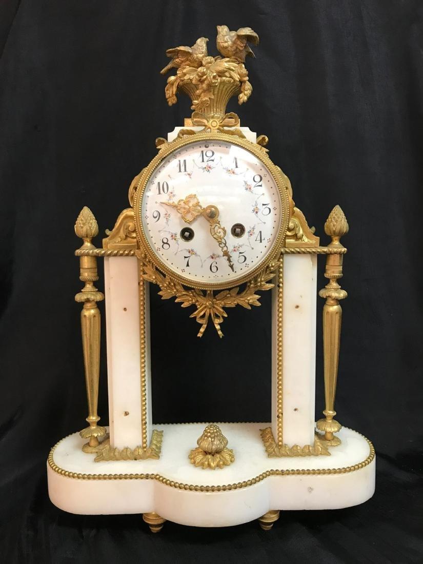 A Three-Piece French Louis XVI-Style Gilt Bronze - 2