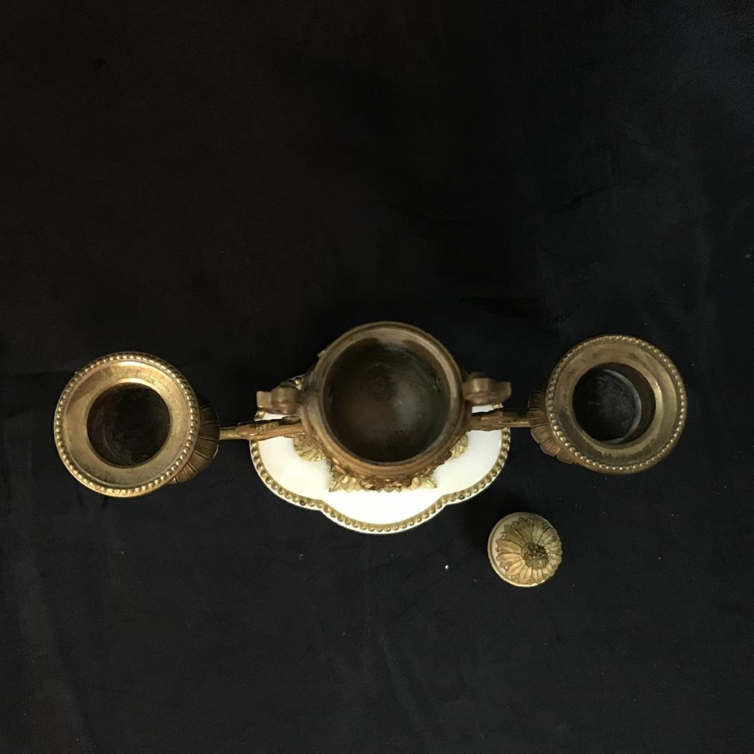 A Three-Piece French Louis XVI-Style Gilt Bronze - 9