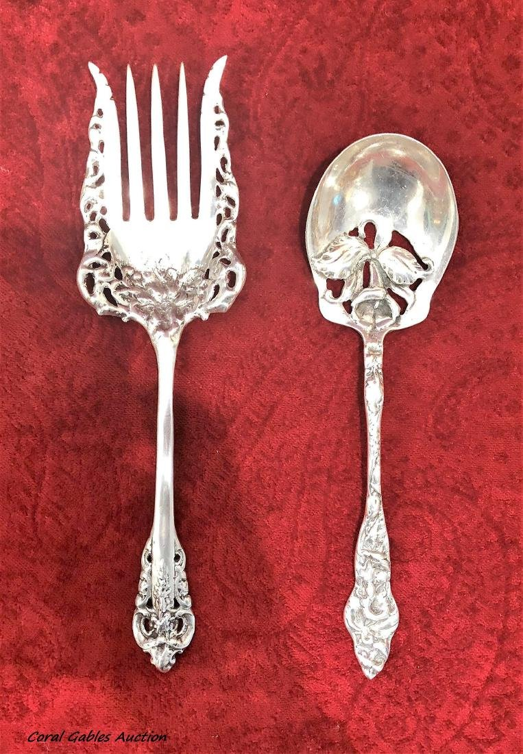 Antique Two pieces sterling silver service