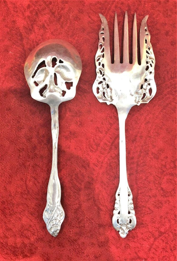Antique Two pieces sterling silver service - 2