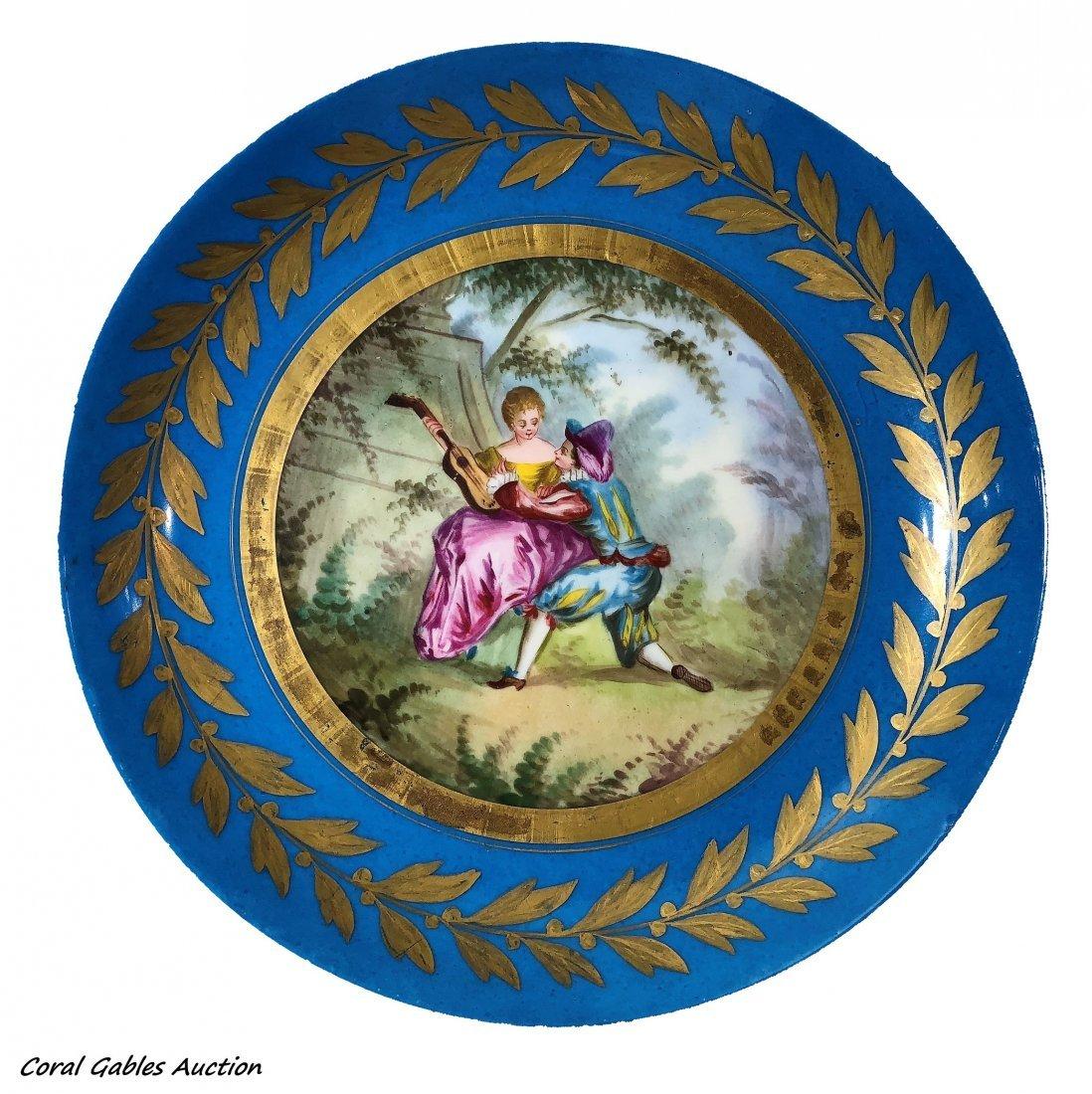 Antique French Sèvres  Porcelain Plate