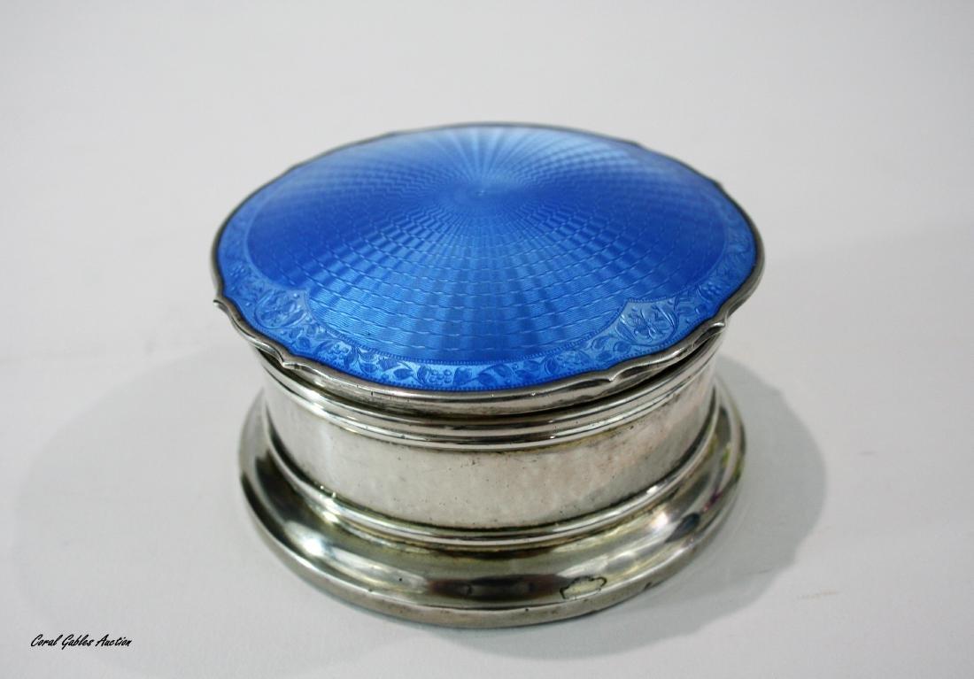 Birmingham Sterling Silver Guilloche Enamel Large