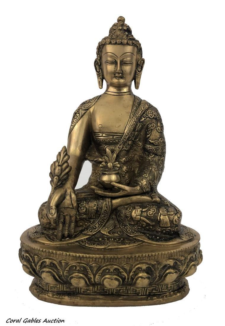 Chinese Bronze Buddha Sculpture