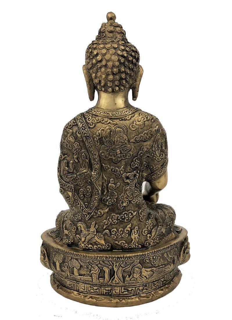 Chinese Bronze Buddha Sculpture - 2