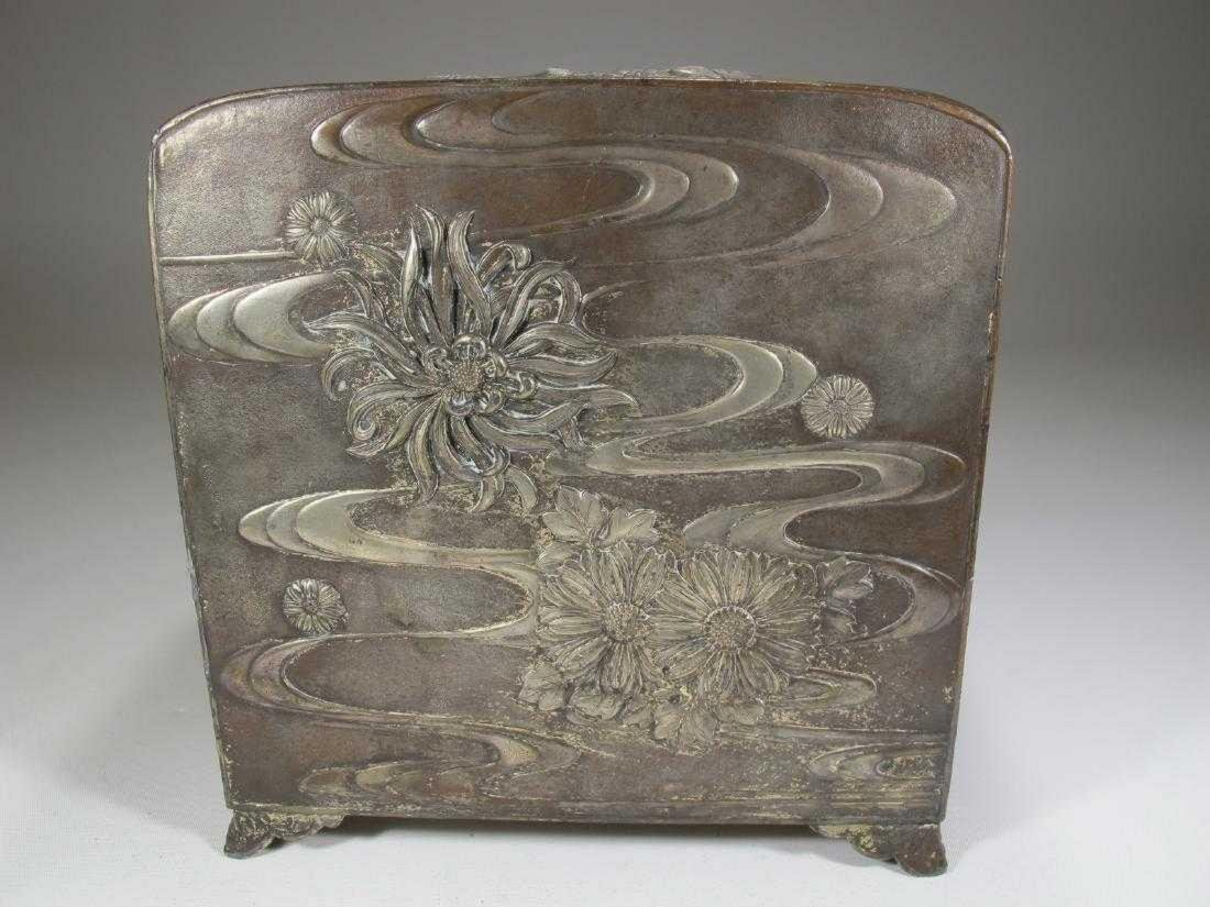 Antique Chinese Export silver jewelry box - 3