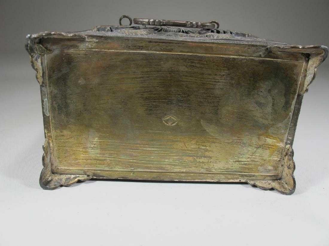 Antique Chinese Export silver jewelry box - 5