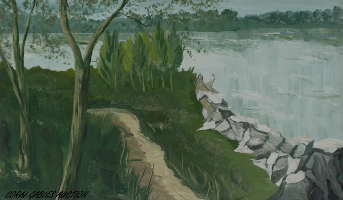 20 century. Oil painting on canvas.