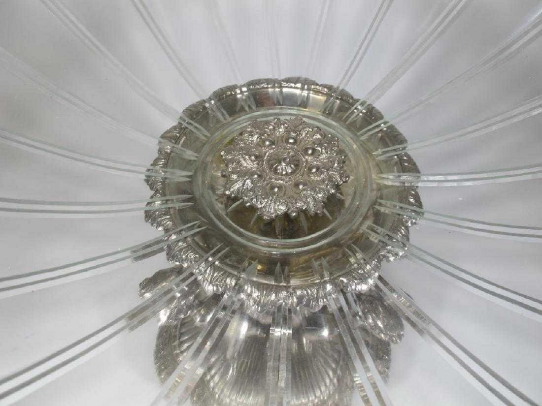 Huge Baccarat style silver-plate glass centerpiece - 5