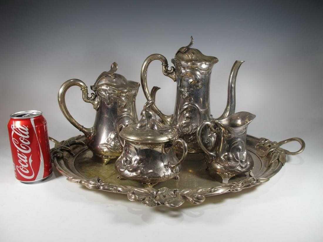 German WMF Art Nouveau tea & coffee-pot set
