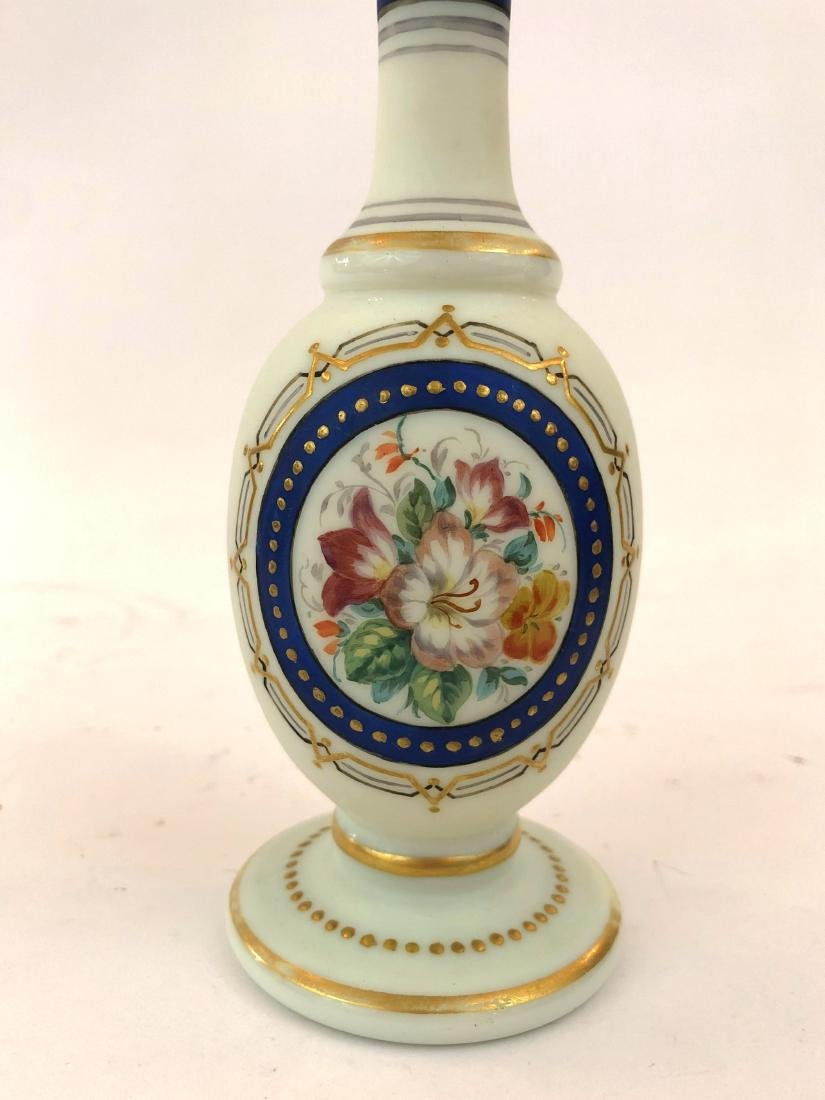 VICTORIAN FRENCH OPALINE PERFUME BOTTLES - 2