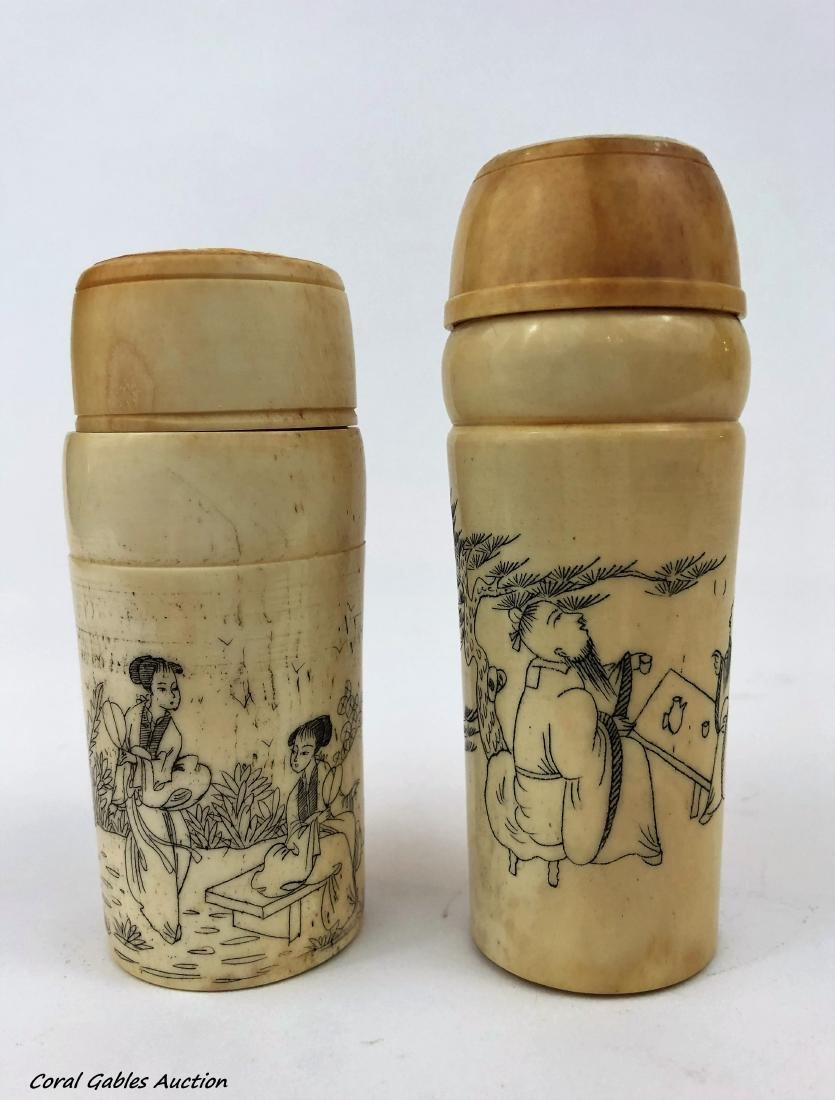 Chinese salt and pepper shaker 19th century.