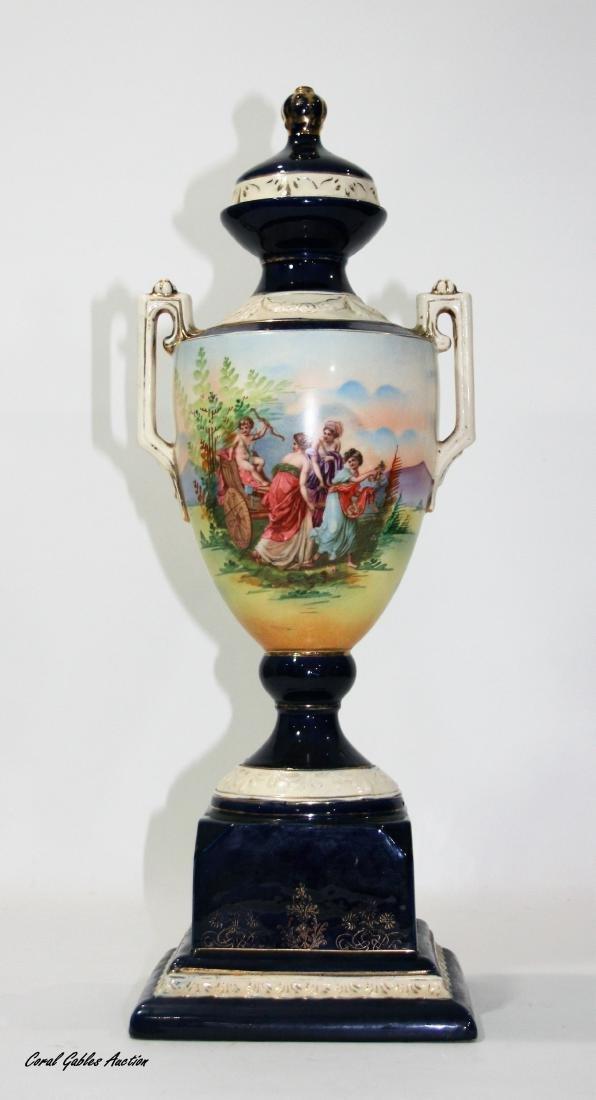 Czechoslovakian Sevres Manner Porcelain Urn
