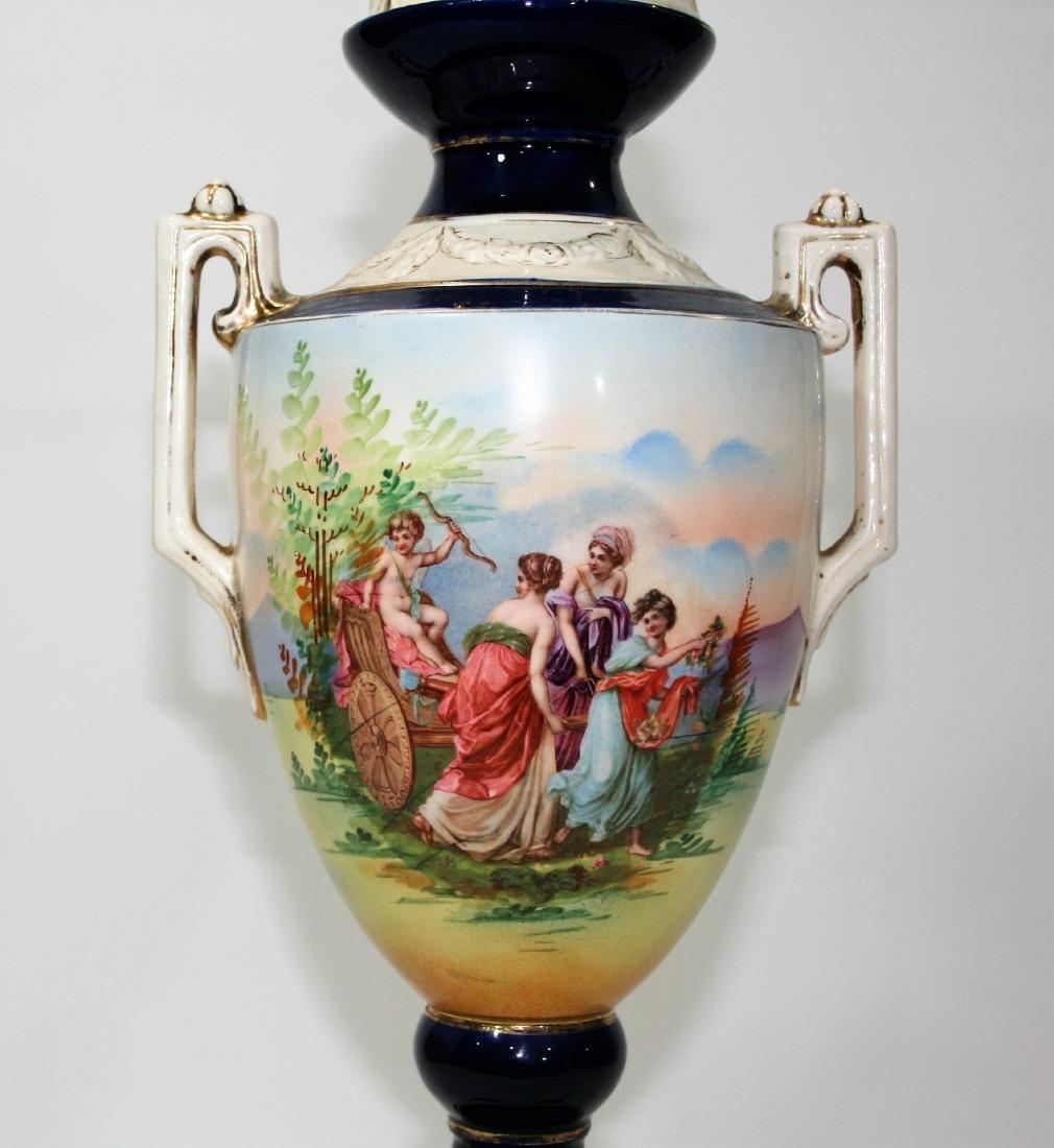 Czechoslovakian Sevres Manner Porcelain Urn - 2