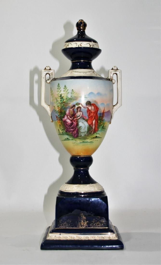 Czechoslovakian Sevres Manner Porcelain Urn - 3