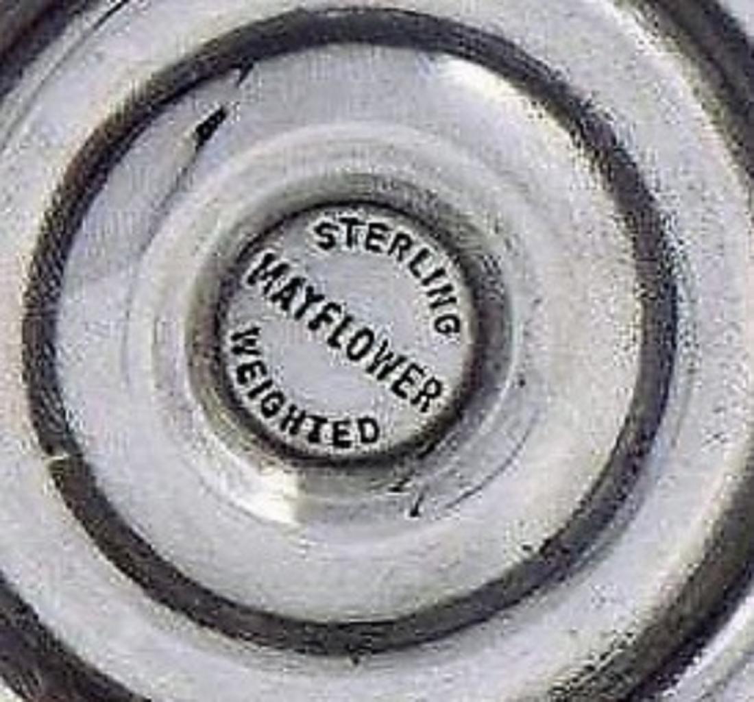 Wonderful Pair Of Three Arm Sterling Silver - 2