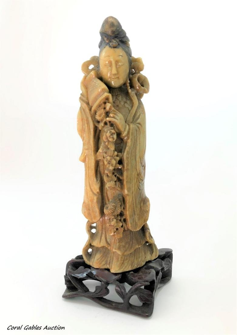 Chinese Carved Soapstone Figure