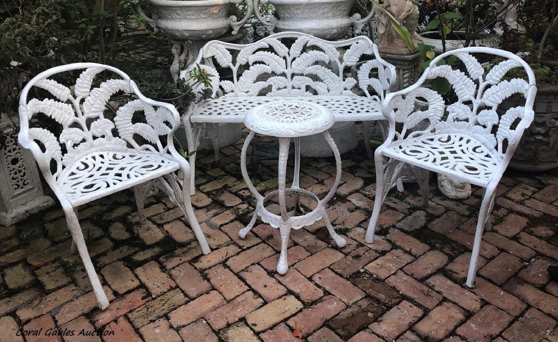 Four piece Wrought Iron Patio Furniture Set