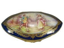 Antique French Sevres hand painted porcelain box