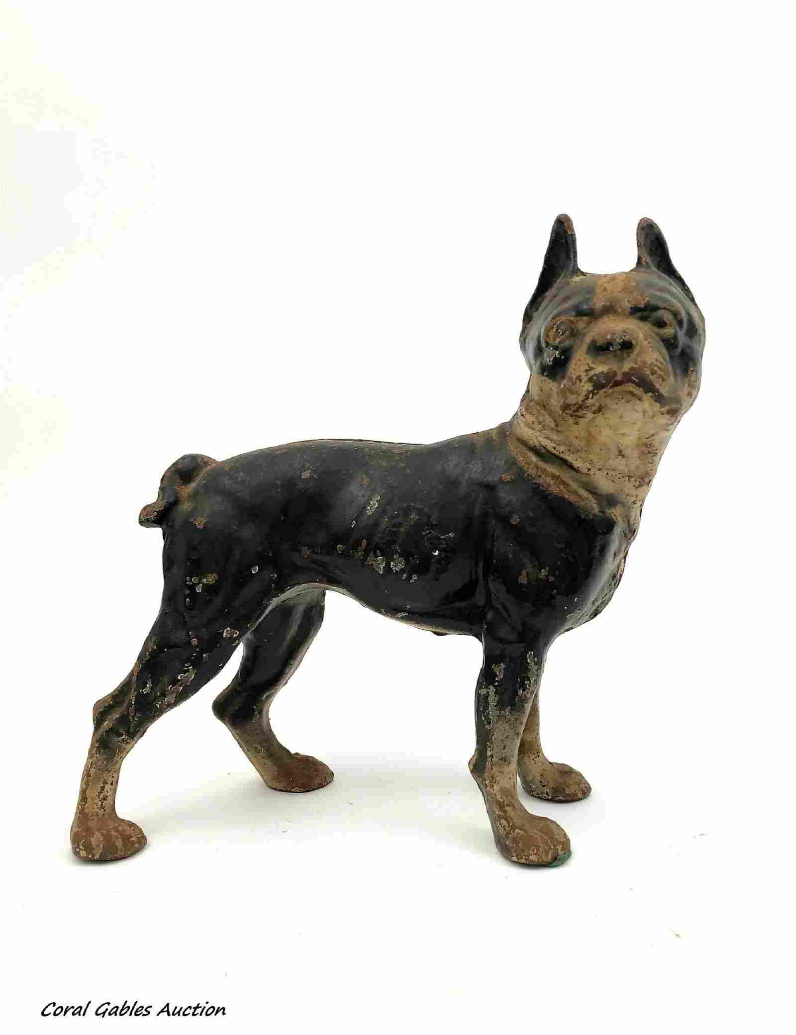 Antique Hubley Boston Terrier Cast Iron Door Stop