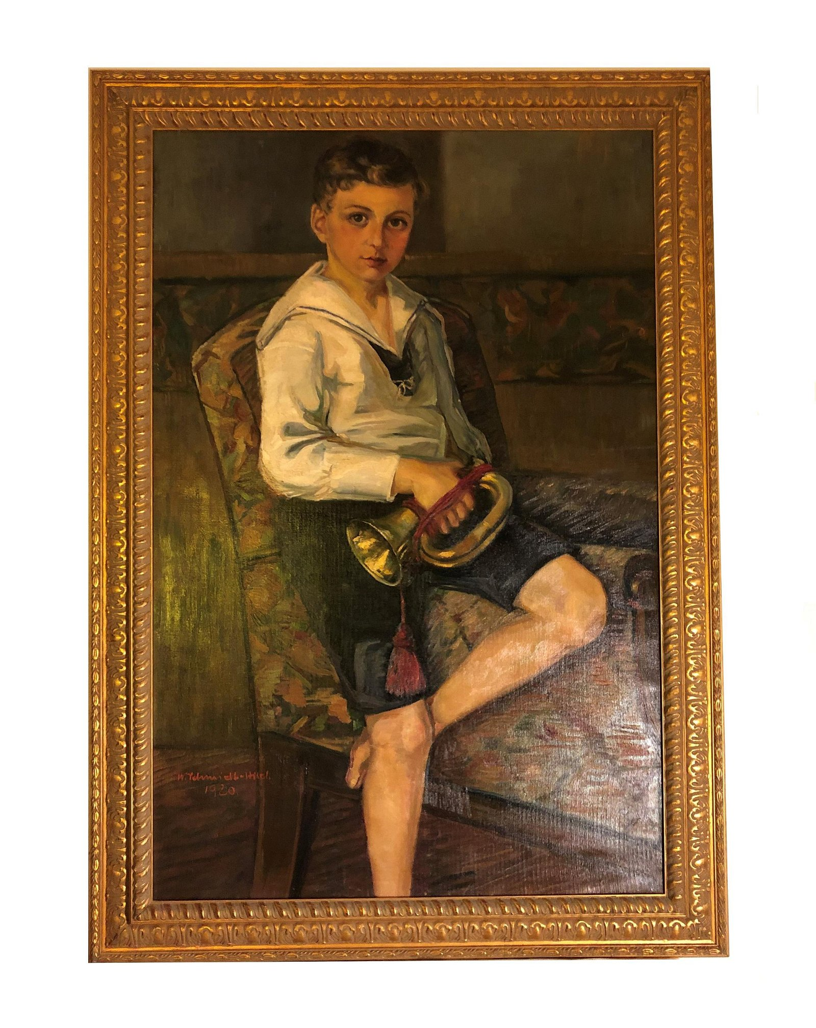 Mystery Artist. 1920 Oil on Canvas Painting.