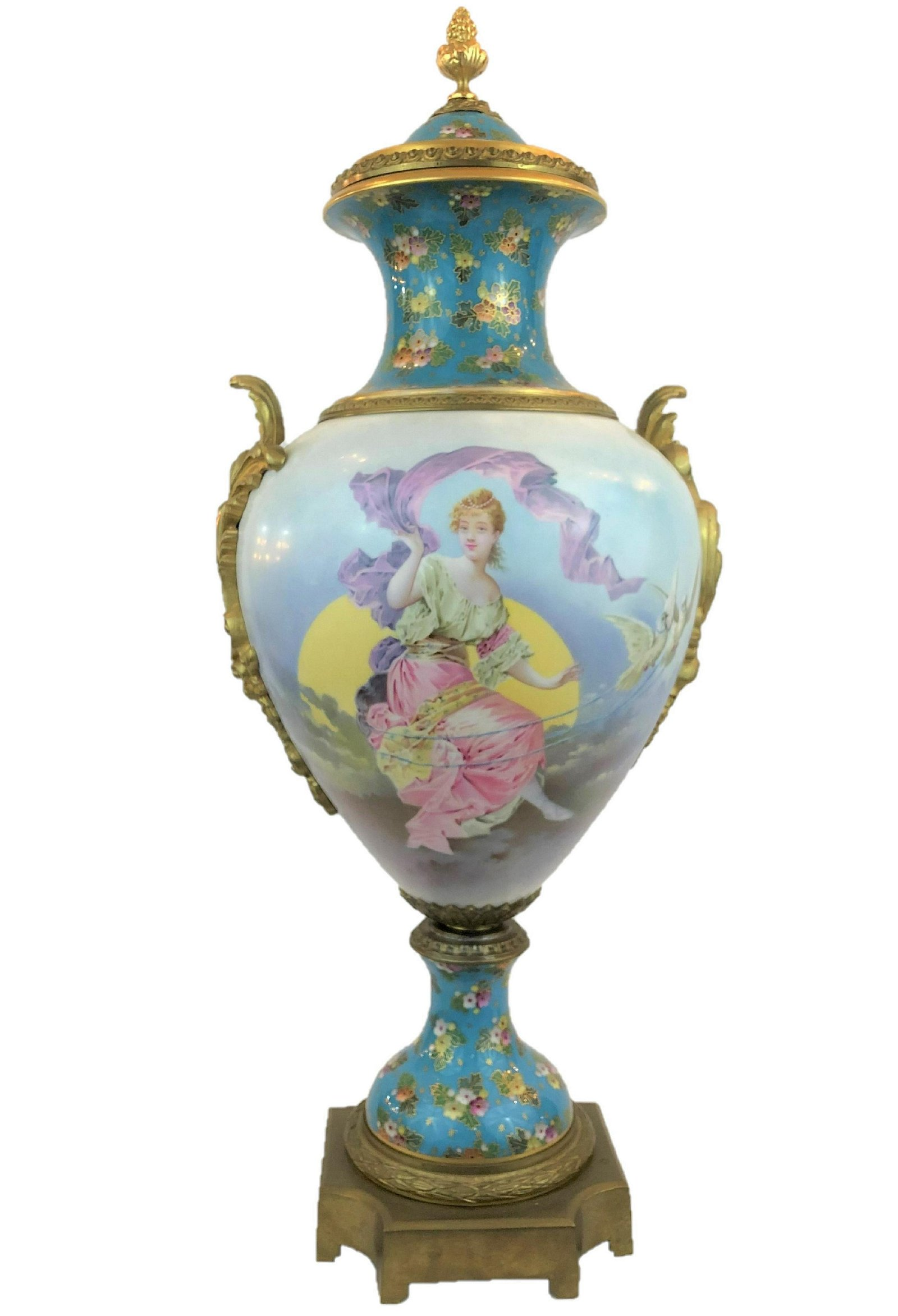 Antique sevres of the 19th century with champleve