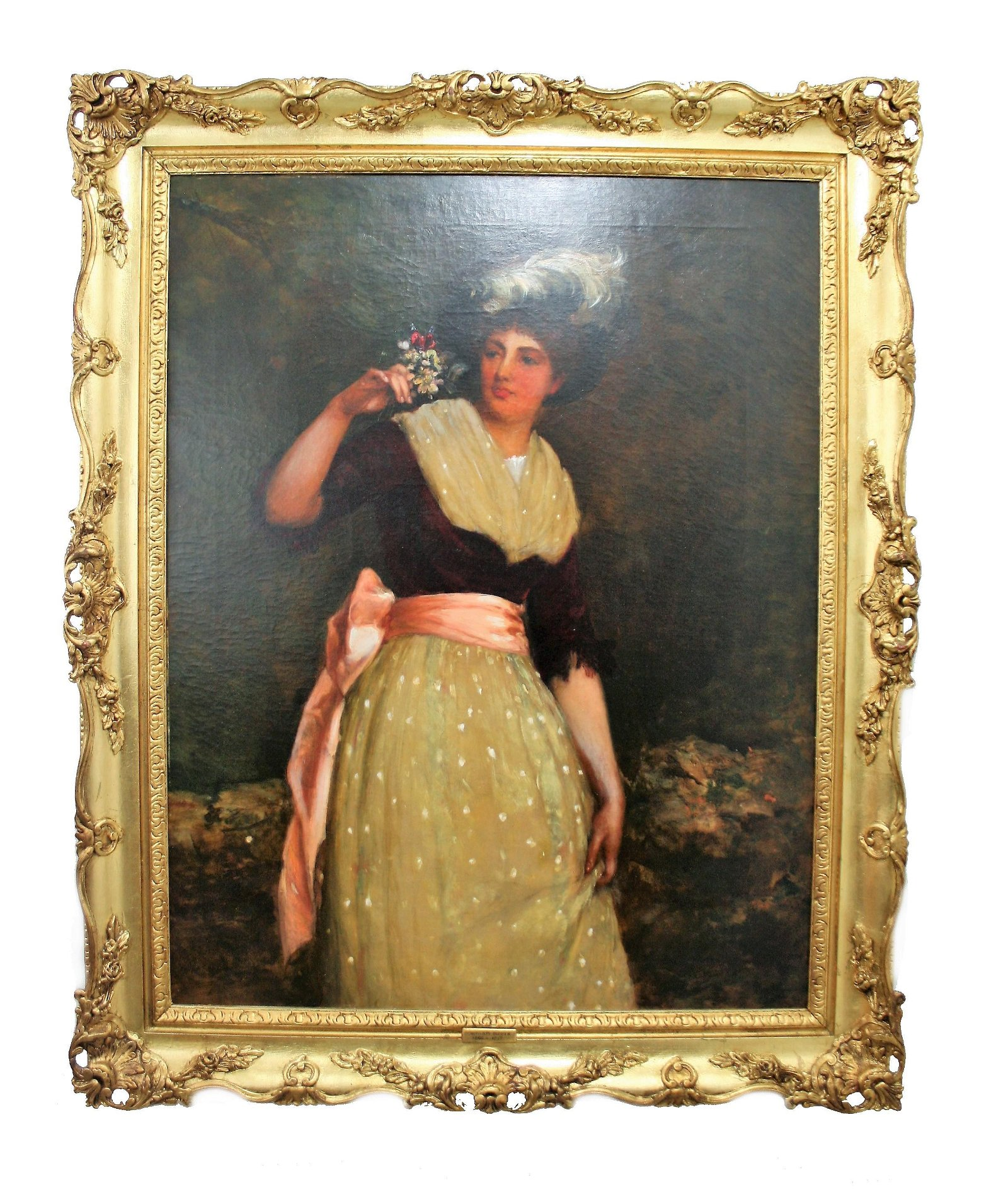 Painting Signed William Oliver (1823 - 1901)