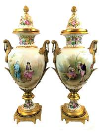 Antique Pair of French sevres of the 19th century