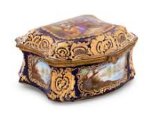 Large 19 Century French Sevres Porcelain Box