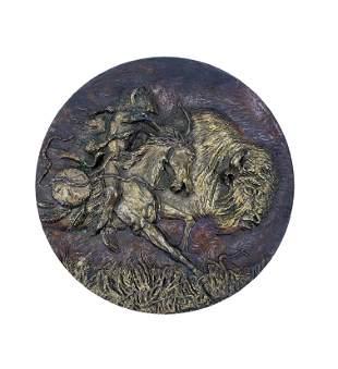 Gregory Perillo Bronze Relief Plaque
