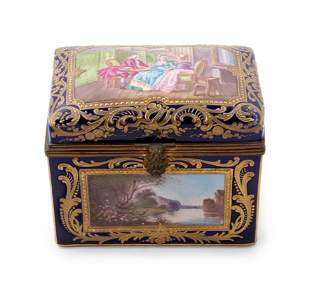 19 Century French Sevres Porcelain Box