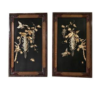 Pair of 19th Century Chinese Carved Hongmu Panels