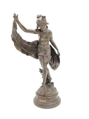 Auguste Moreau (1834 - 1917) Metal Sculpture