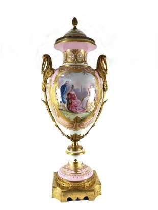 Antique Sevres Porcelain Vase of the 19th century