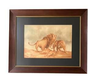 """Friedrich Wilhelm (""""Lion"""") Kuhnert (1865 - 1926)"""