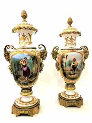 Pair of French Sevres of the 19th Century