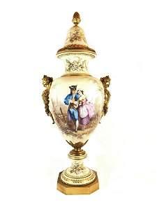 Antique French Sevres Porcelain Vase