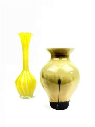 Two Art Deco Art Glass Vases