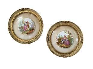 Pair of Antiques Porcelain Plaques