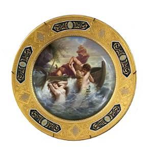 Antique Hand Painted Royal Vienna Porcelain Plate